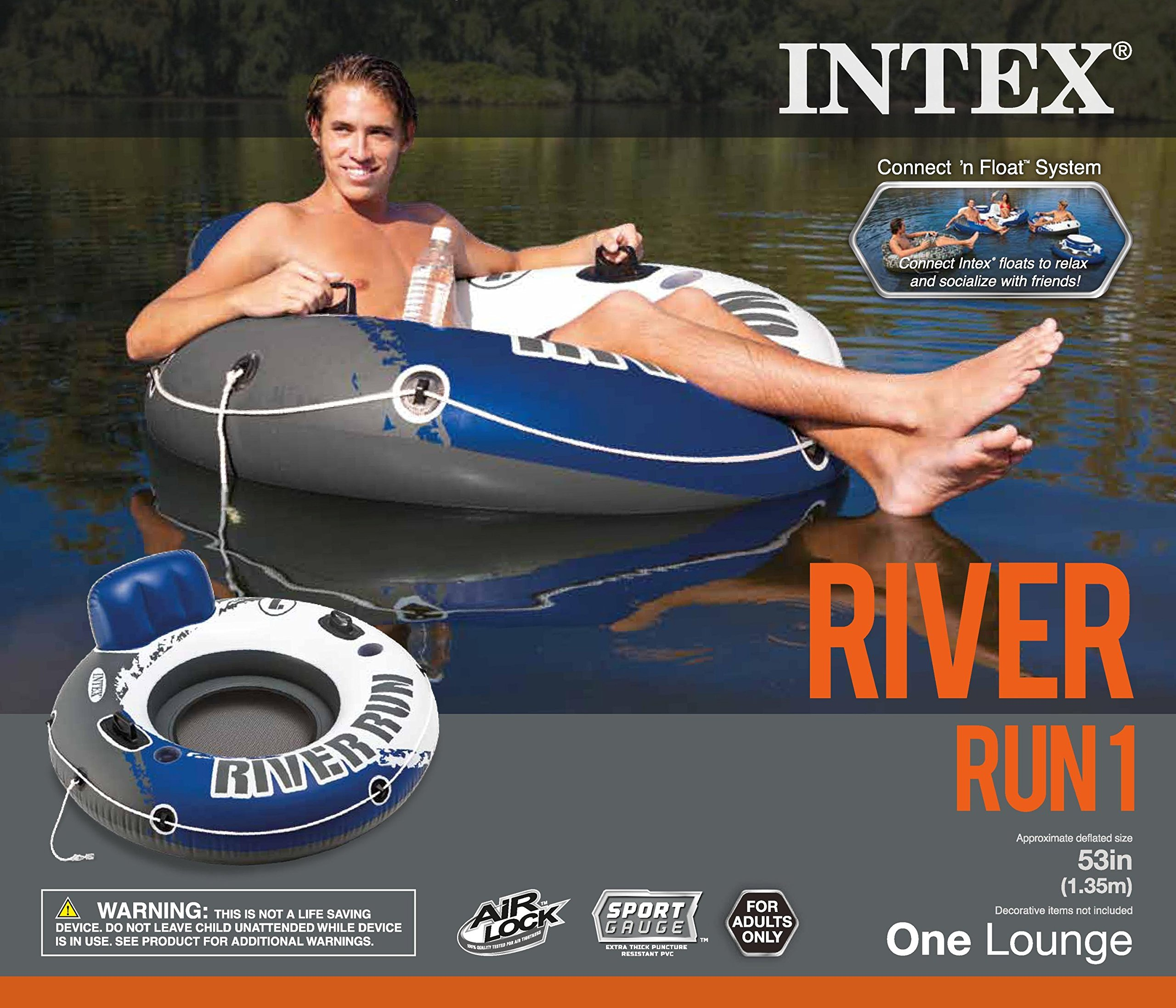 Intex River Run 1 Person Floating Tube (6 Pack) & River Run Lounge (4 Pack) by Intex (Image #9)