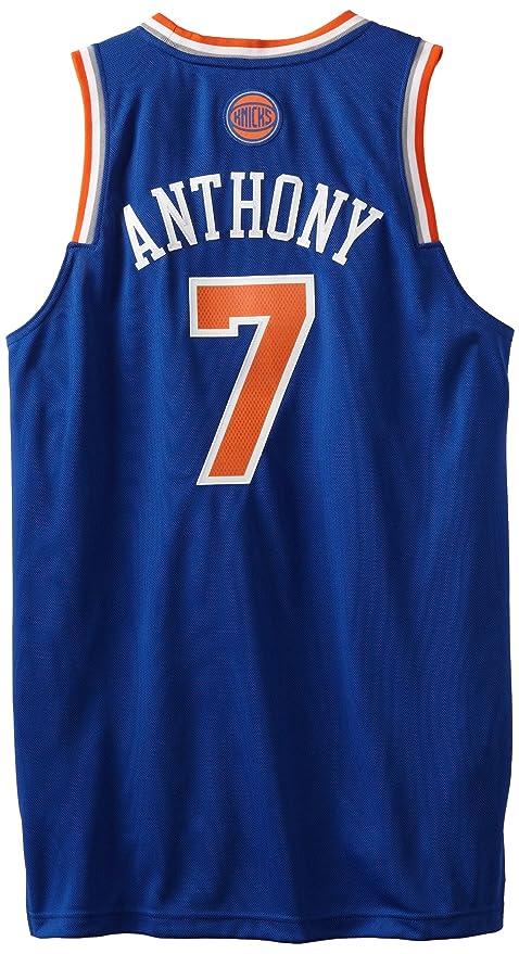110143e8 NBA New York Knicks Blue Swingman Jersey Carmelo Anthony #7, Small