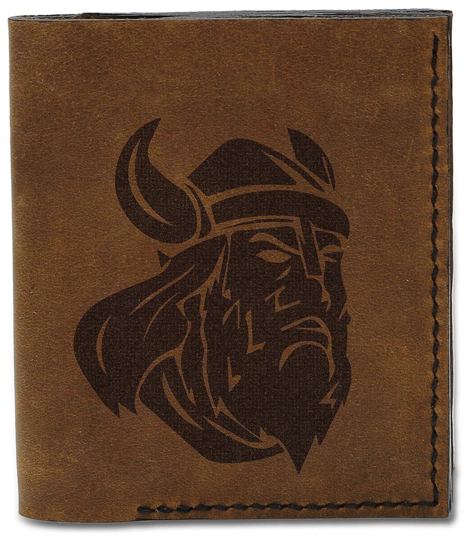 Mens New Viking Heads Handmade Natural Genuine Leather Wallet MHLT/_04