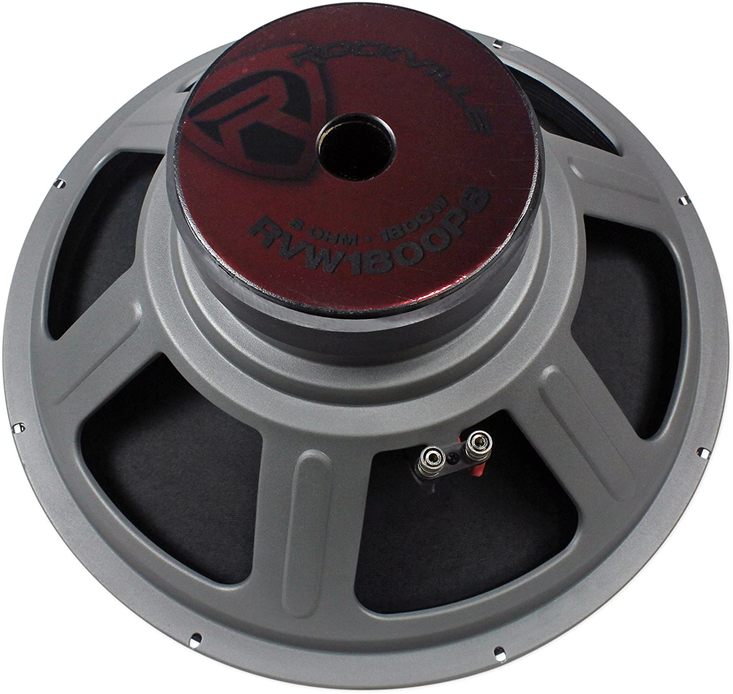 Rockville Rvw1800p8 1800w 18 Raw Dj Subwoofer 8 Ohm Sub 8ohm Wiring Diagram Woofer 107oz Magnet Musical Instruments