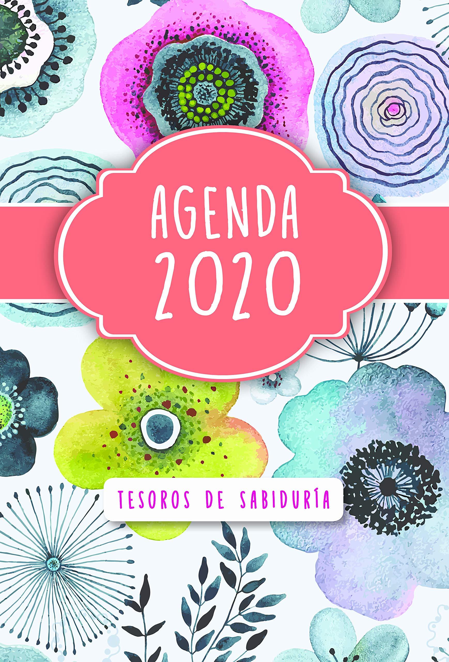 2020 Agenda - Tesoros de Sabiduría - Flores de Acuarela: Con ...