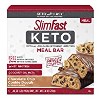 Deals on 5 Count SlimFast Keto Meal Replacement Bar