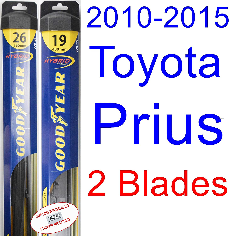 Amazon com 2010 2015 toyota prius wiper blade rear goodyear wiper blades hybrid 2011 2012 2013 2014 automotive