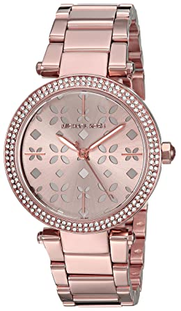 855e3603fb56 Amazon.com  Michael Kors Women s Mini Parker Rose Gold-Tone Watch ...