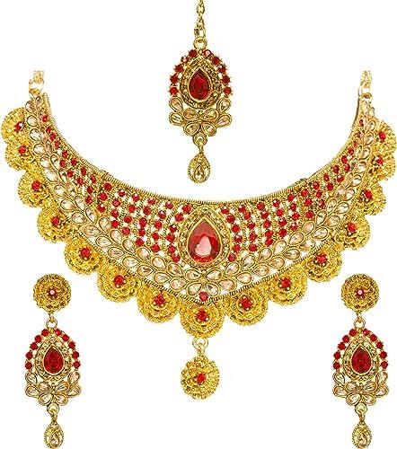 Indian Jewelry Polki Earrings /& Tikka Set