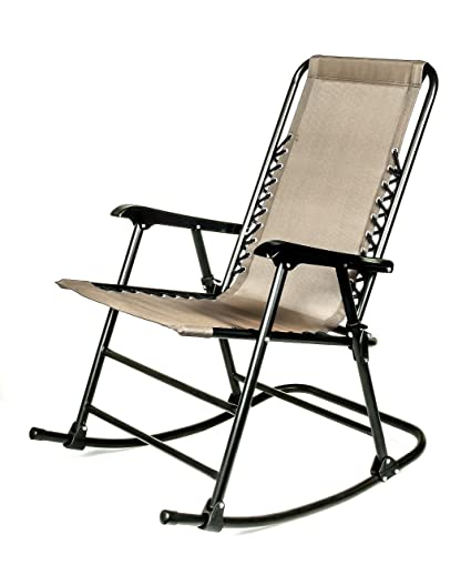 Beau Camco 51851 Tan Folding Rocking Chair