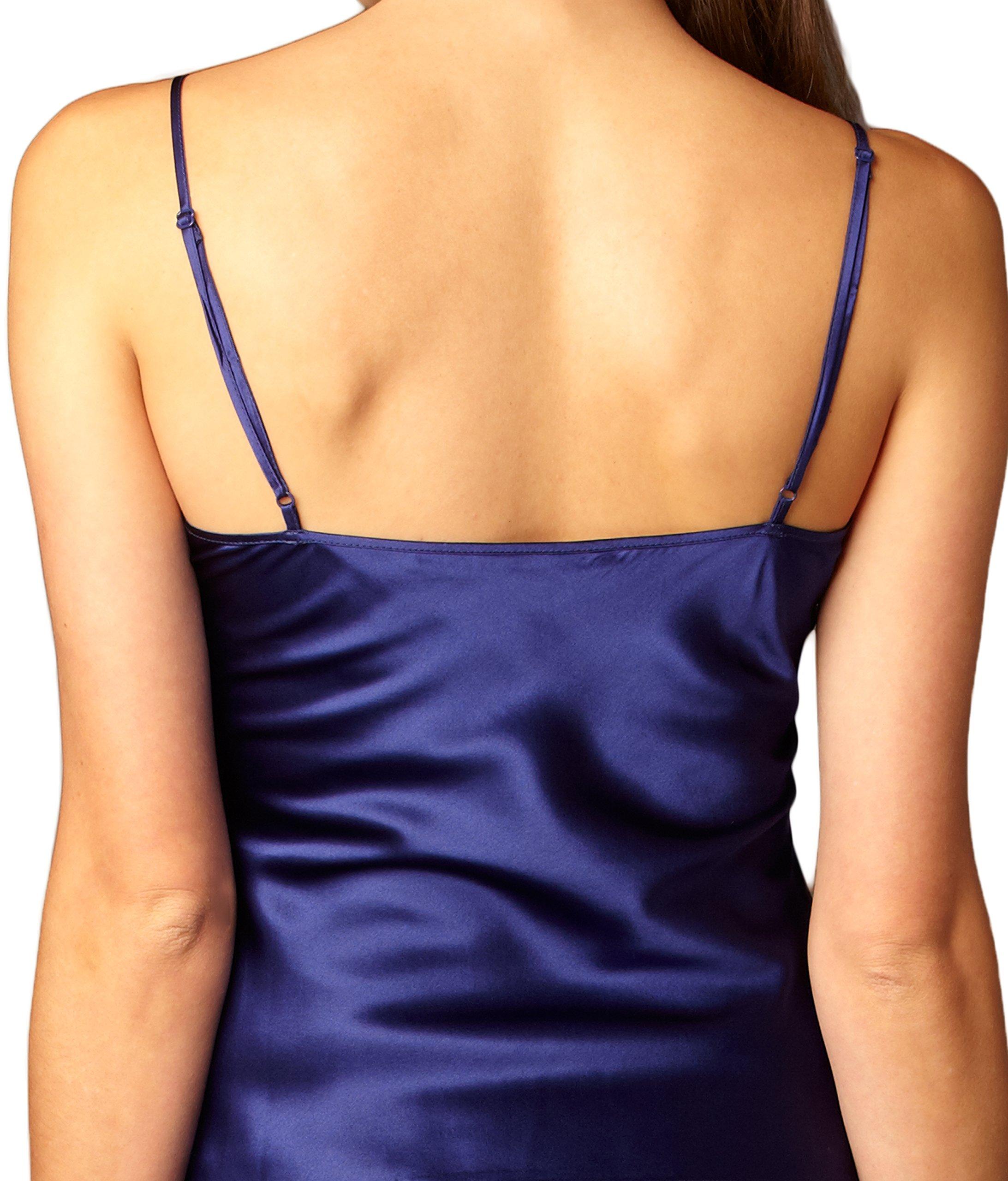Julianna Rae Women's 100% Silk Contrast Cami Top, Lace Trim, Flattering Fit, Le Tresor Collection, Parisian, M by Julianna Rae (Image #3)