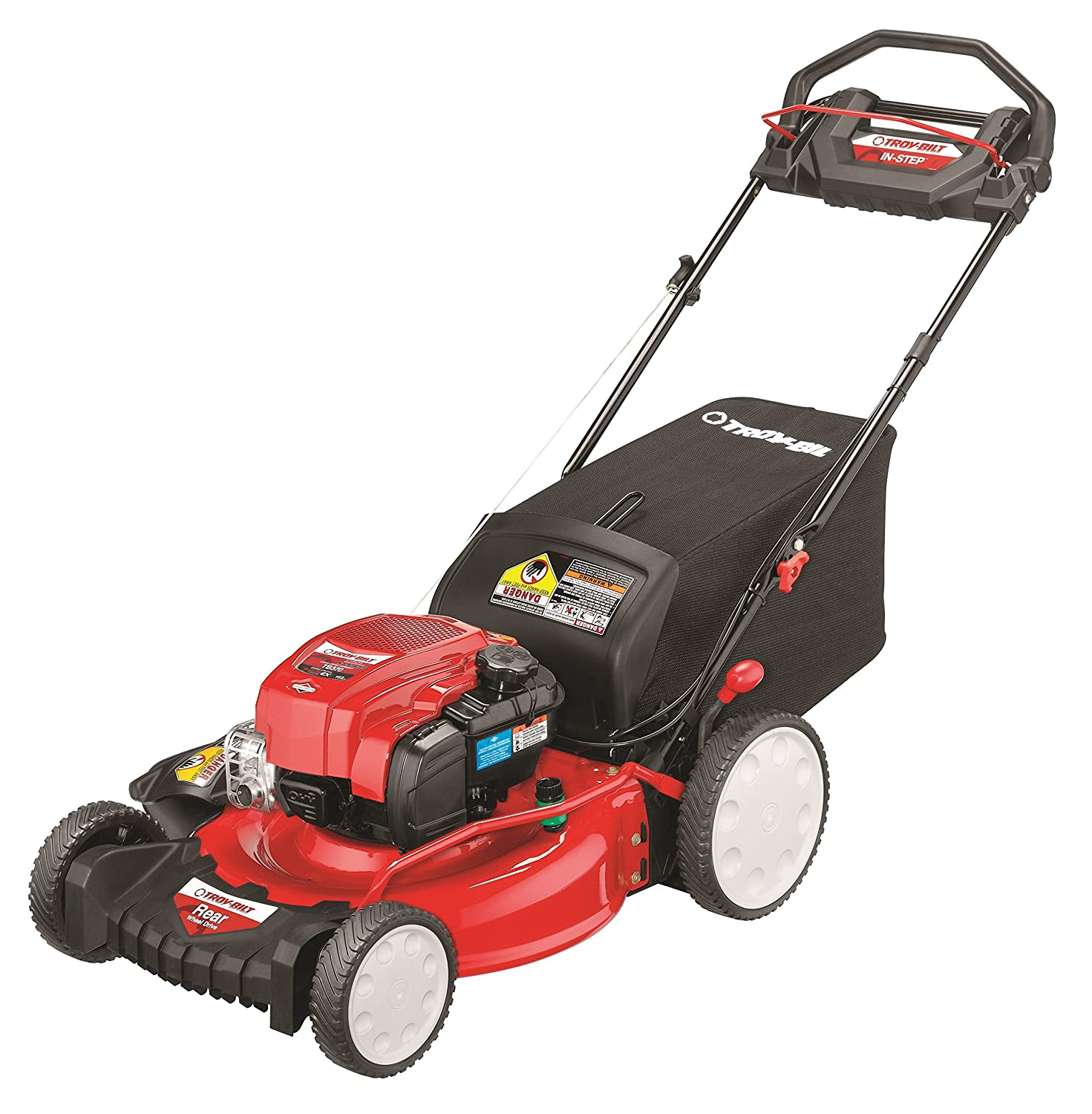 Amazon.com : Troy-Bilt TB370 163cc 21-inch In Step RWD Self-Propelled Lawn  Mower : Garden & Outdoor