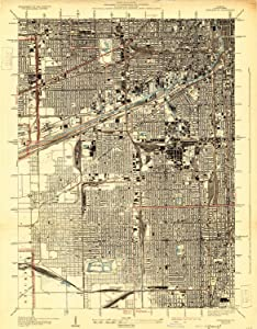 YellowMaps Englewood IL topo map, 1:24000 Scale, 7.5 X 7.5 Minute, Historical, 1929, 25.9 x 20.2 in