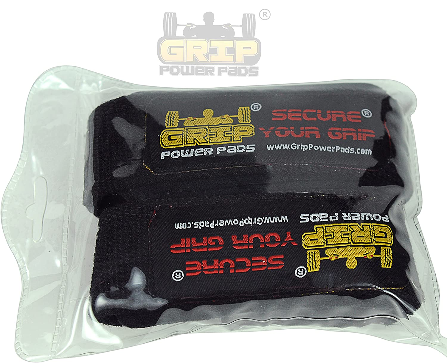Best Heavy Duty Lifting Straps Neoprene Padded 1 Pair Wrist Wraps /& Rubbery Grip Support Straps with Cotton Coated Rubber on One Side