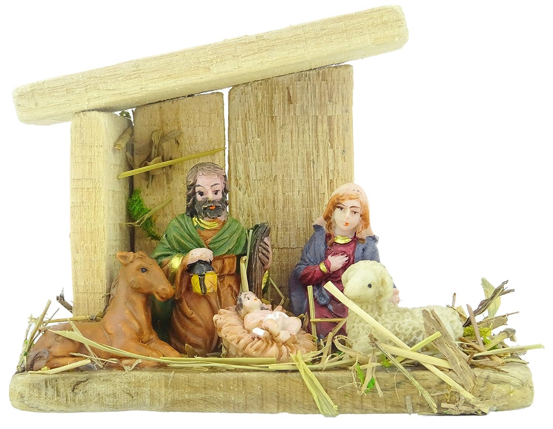 12cm Wooden Nativity Scene Christmas Decoration - 6 Piece Set Toyland®