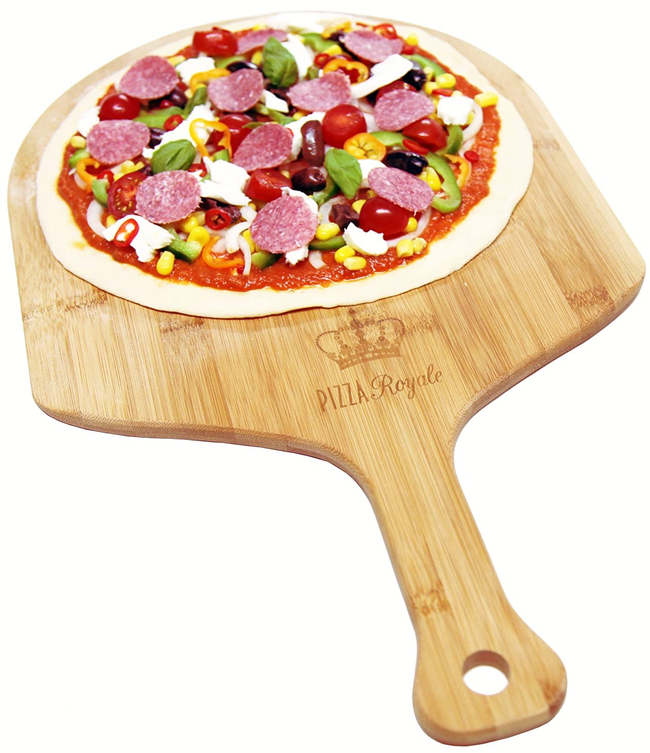 Pizza Royale Ethically Sourced Premium Natural Bamboo Pizza Peel (19.6x12)