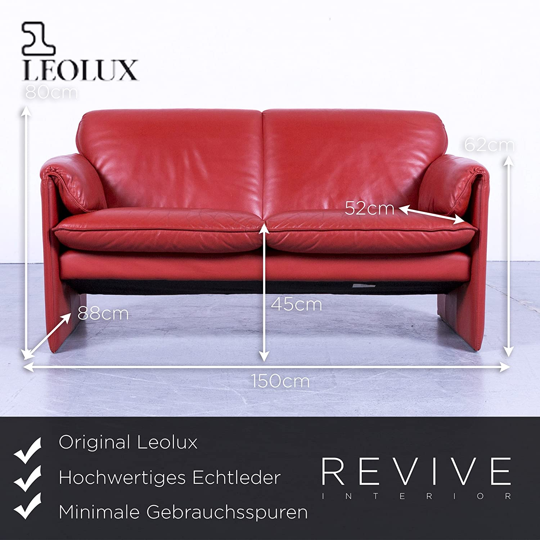 Schön Sofa Echtleder Galerie Von Conceptreview: Leolux Bora Designer Leder Orange Rot