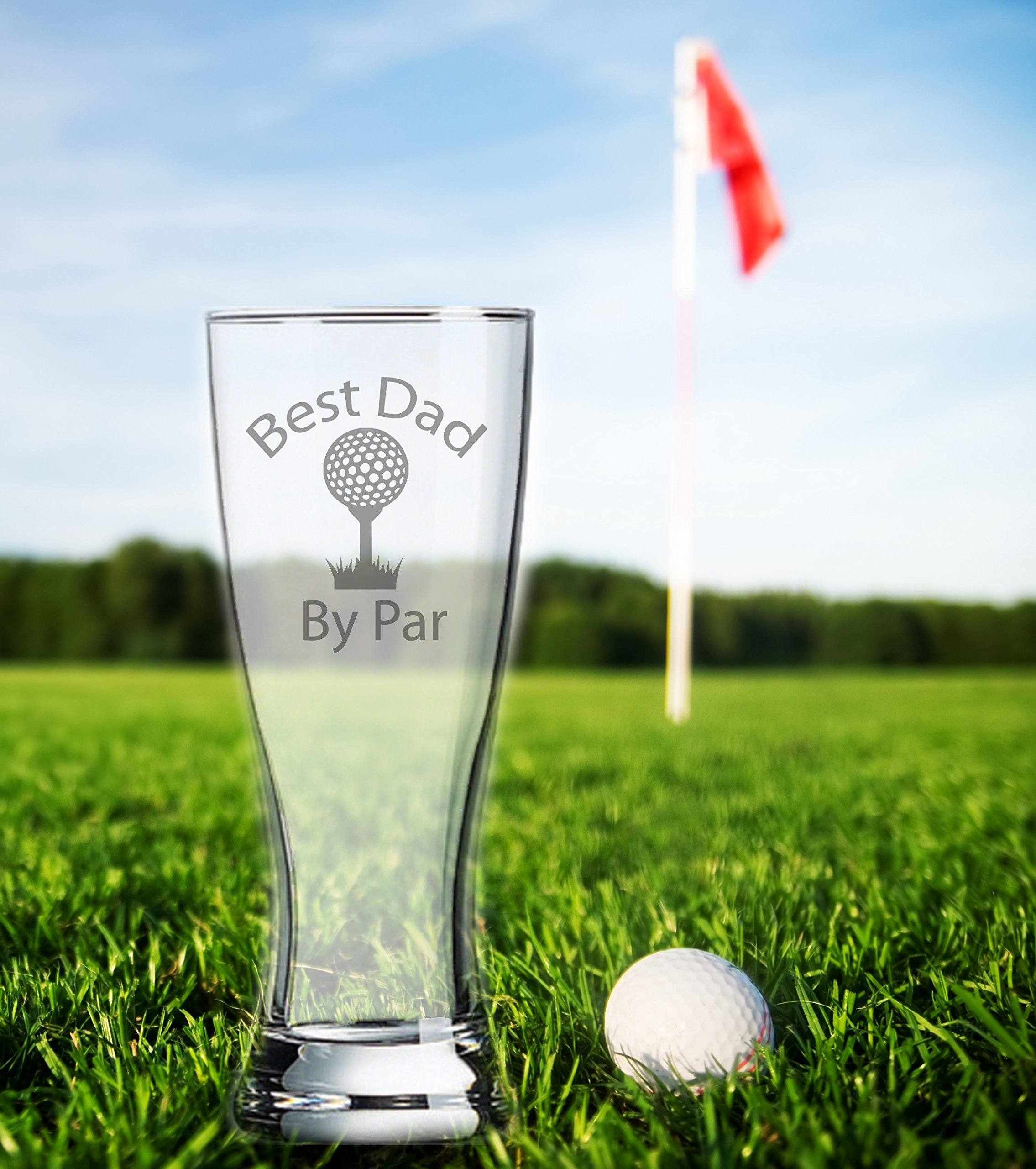 XL 23 oz ★ Dad Golfing Gift ★ Best Dad by Par ★ Funny Golfer Birthday ★ Gift for Dad ★ Brother ★ Father in Law ★ Father ★ Beer ★ Golf ball ★ Dad to be ★ Step Dad ★ Golf cart by Etchpress Yourself (Image #2)
