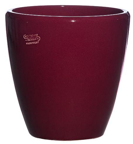 Pflanztopf Pflanzkübel frostsicher rund Ø 30 x 30 cm, Farbe rubin ...