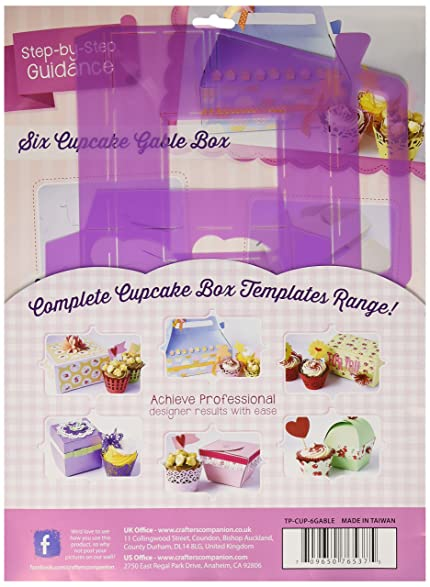 Amazon.com: Crafter\'s Companion Six Cupcake Gable Box Template