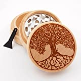 Tree of Life Design Engraved Premium Natural Wooden Grinder # PW050916-113