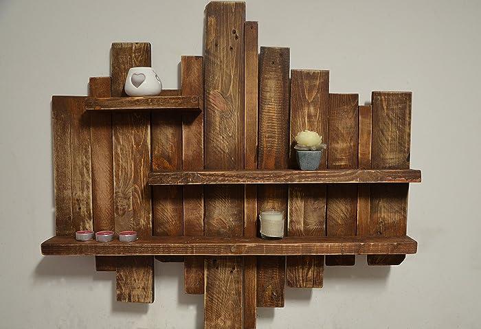 Ufficio Mobile Legno : Pensile a giorno mensola mobile sospeso a muro in legno design