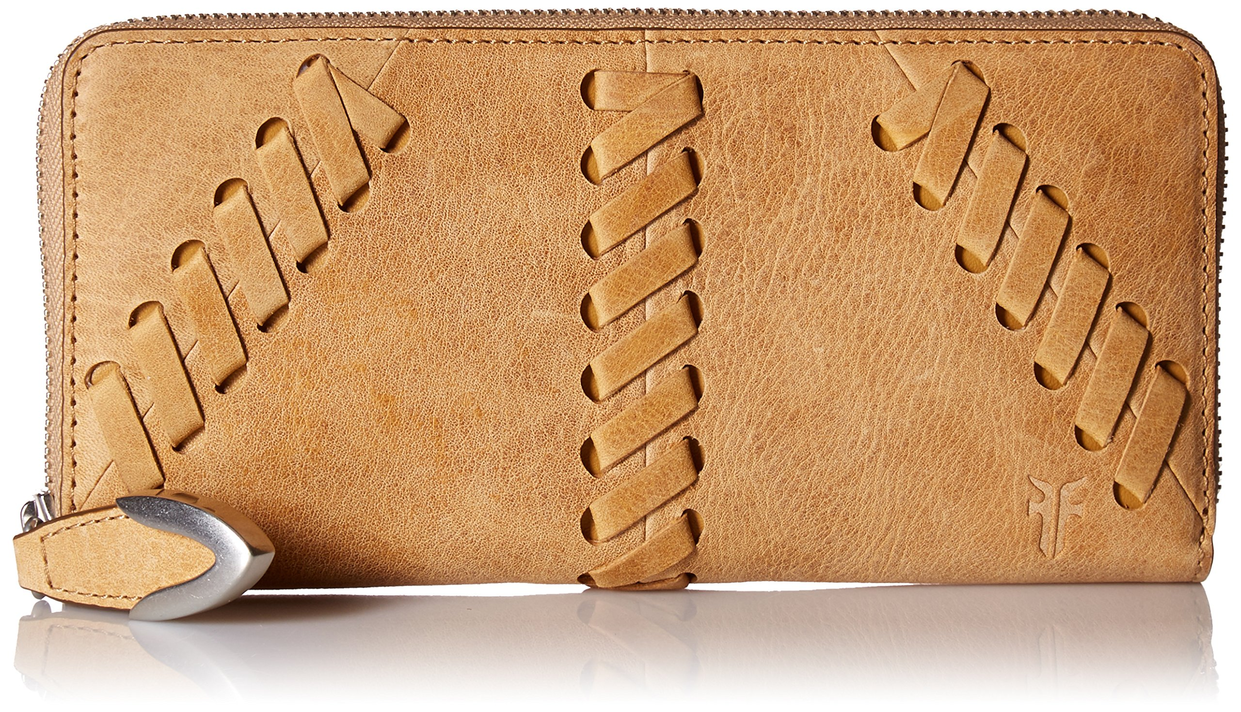 FRYE Jacqui Lace Zip Around Leather Wallet Wallet