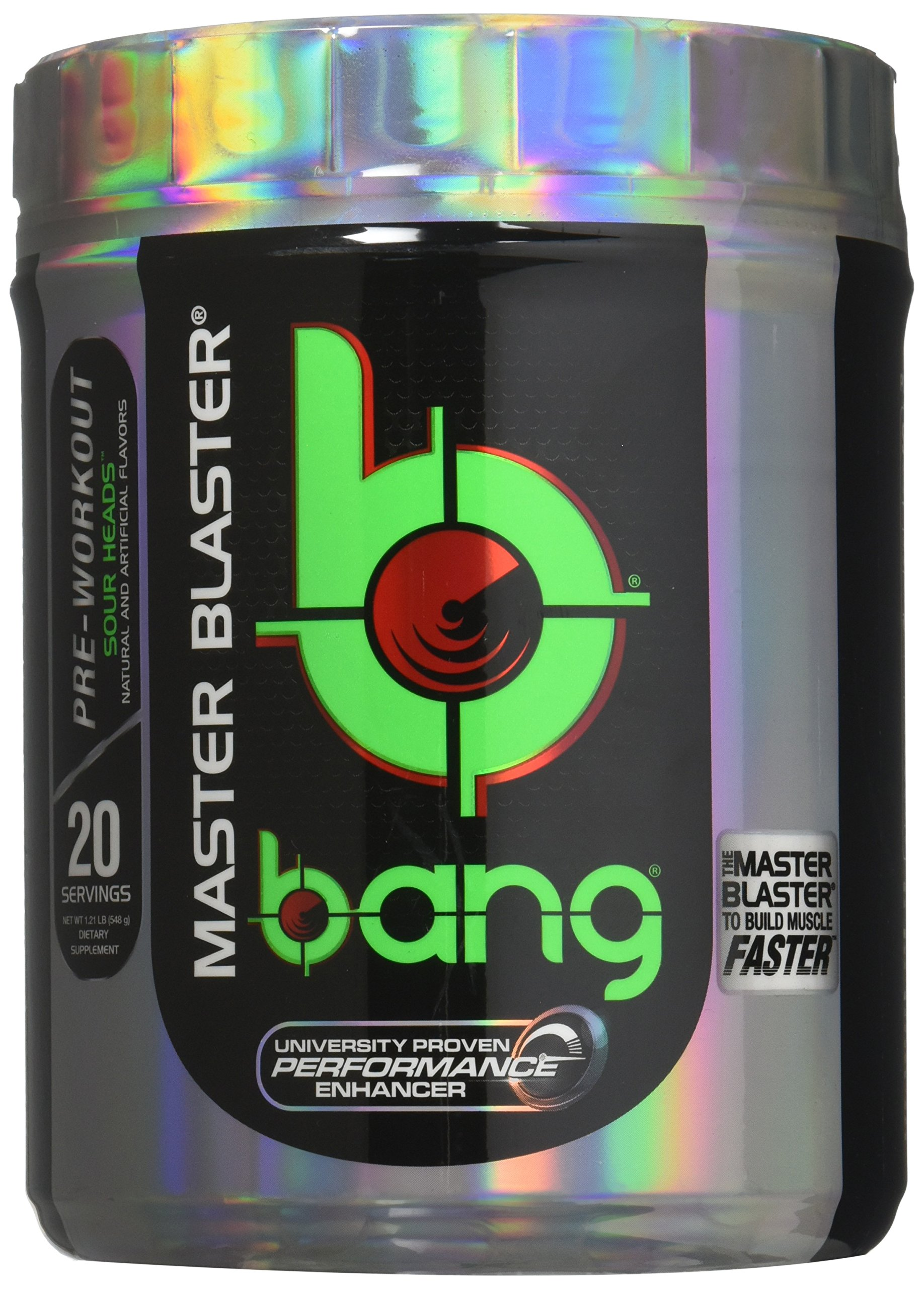 VPX Bang Pre-Workout Master Blaster, Sour Heads, 20 Servings by VPX