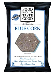 Food Should Taste Good Blue Corn Tortilla Chips, 1.5-Ounce (Pack of 24)