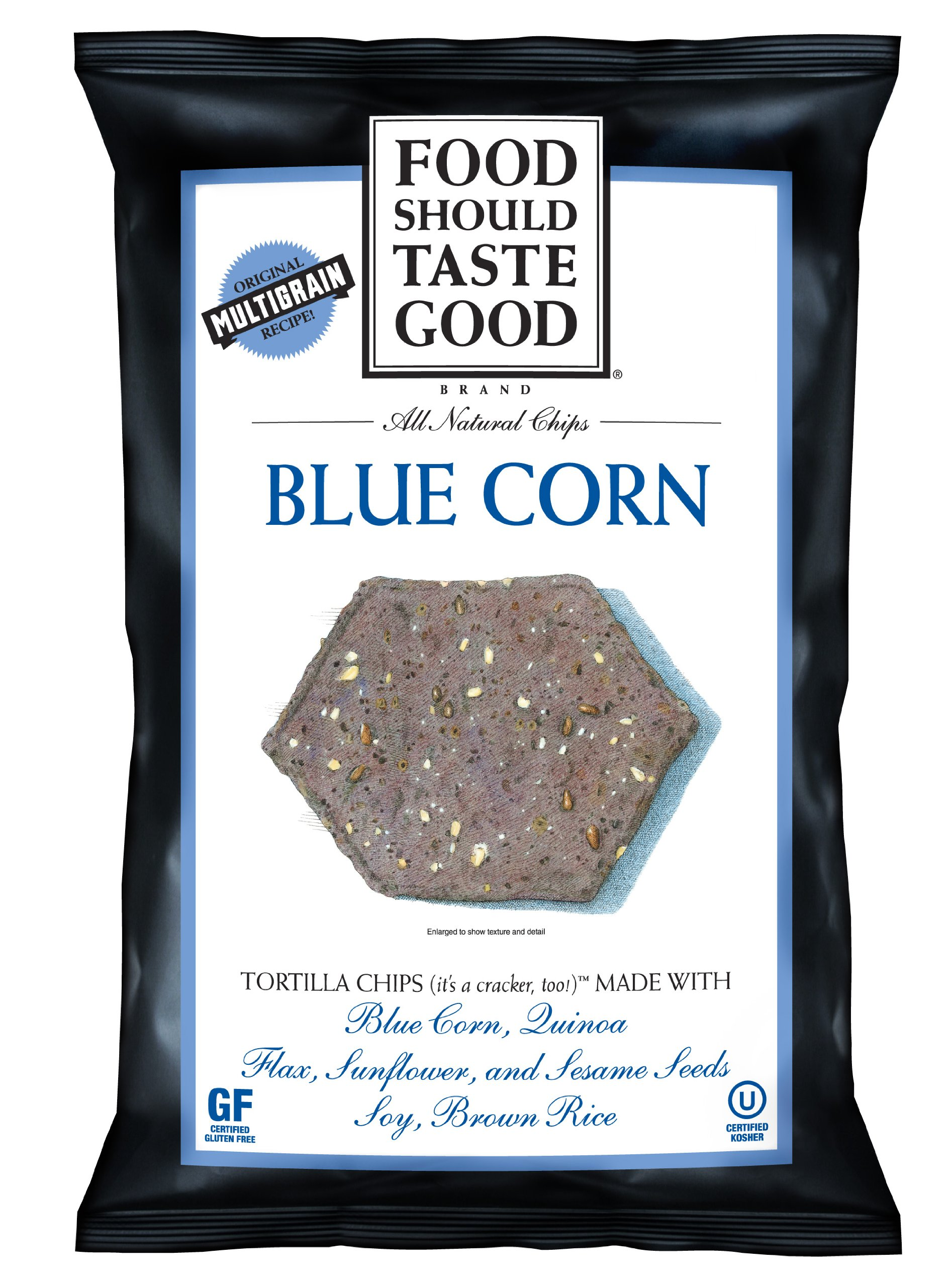 Food Should Taste Good Blue Corn Tortilla Chips, 1.5-Ounce (Pack of 24)