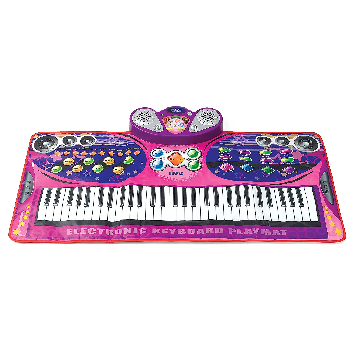 Jumbo Sized Animal Carnival Musical Playmat 3 Modes To Play 10 Flashing Led Lights Cheerful Childrens Songs