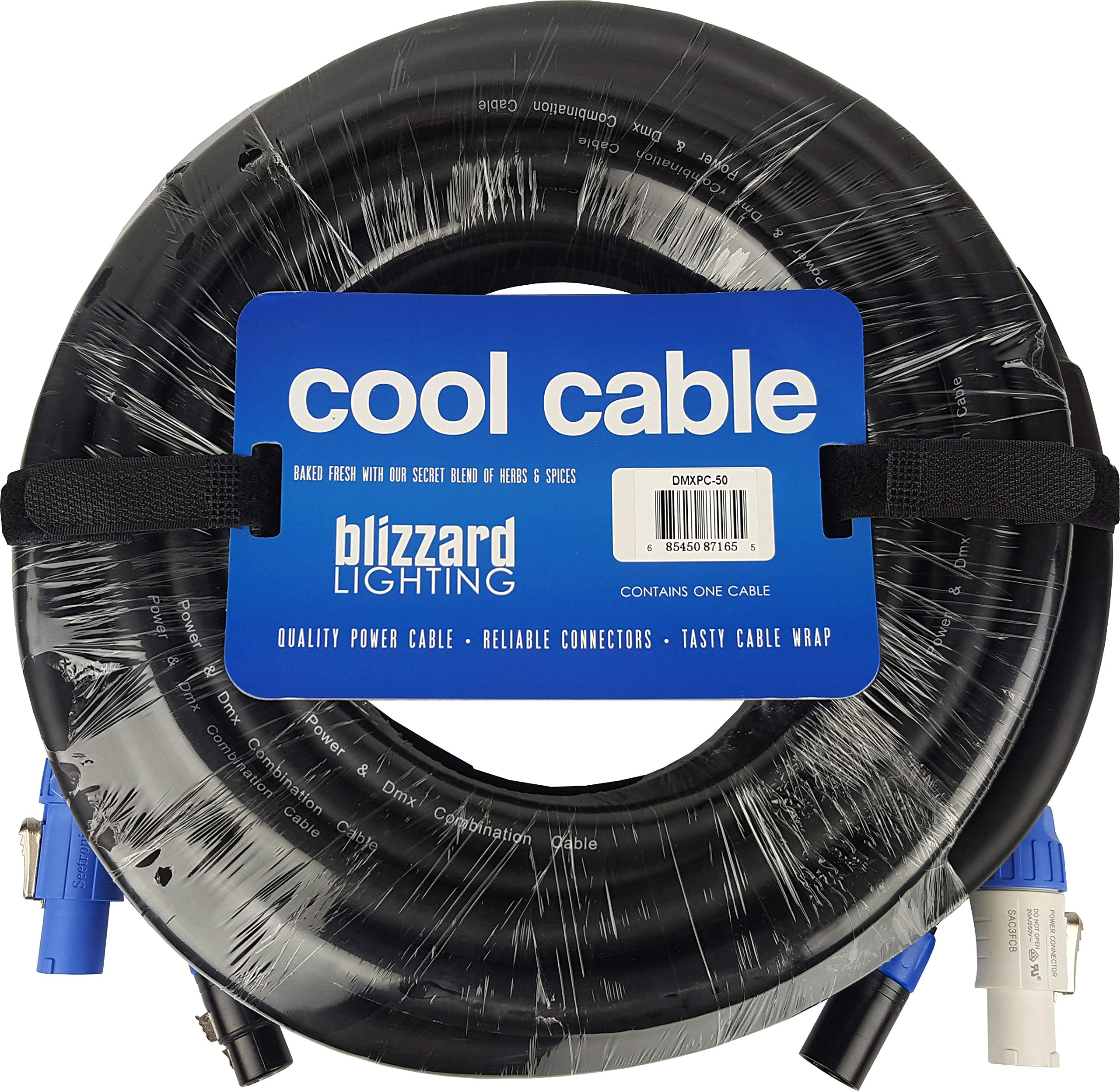 Blizzard Lighting Cool Cables Powercon + DMX Combo (50ft/3-pin)