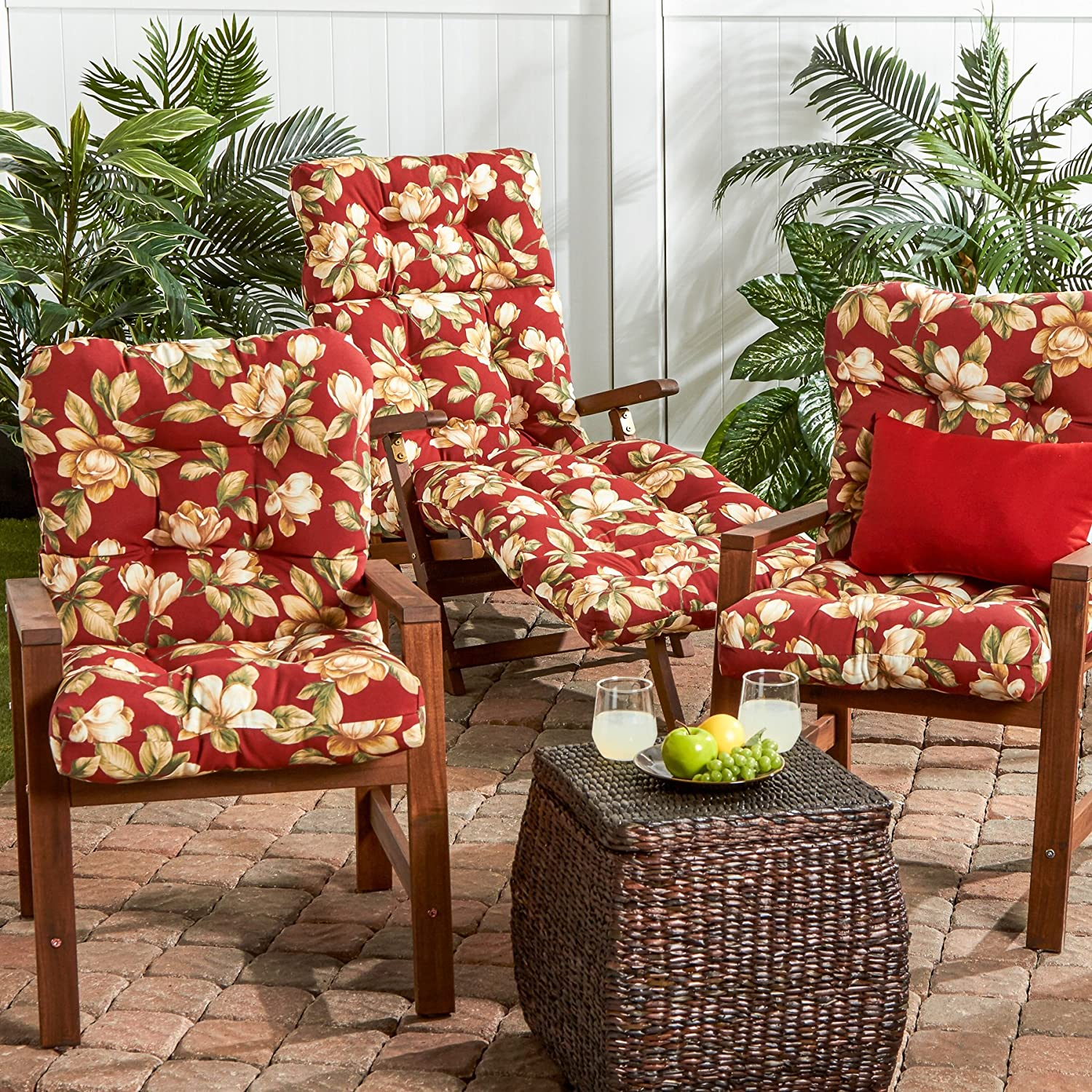 Amazon Greendale Home Fashions Outdoor Seat Back Chair