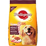 Pedigree Meat & Rice, Dry Dog Food for Adult Dogs (Labradors, German Shepherds, Pugs & others), 1.2Kg