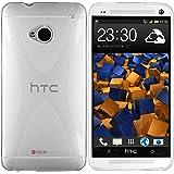 mumbi X-TPU Schutzhülle HTC One Hülle transparent weiss (NICHT HTC One M8)