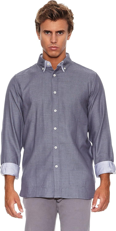 Springfield Camisa WD Urban Double Smart Gris M: Amazon.es ...