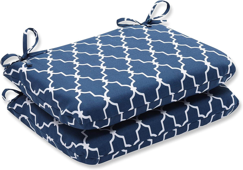 Pillow Perfect Outdoor/Indoor Garden Gate Round Corner Seat Cushions, 18.5