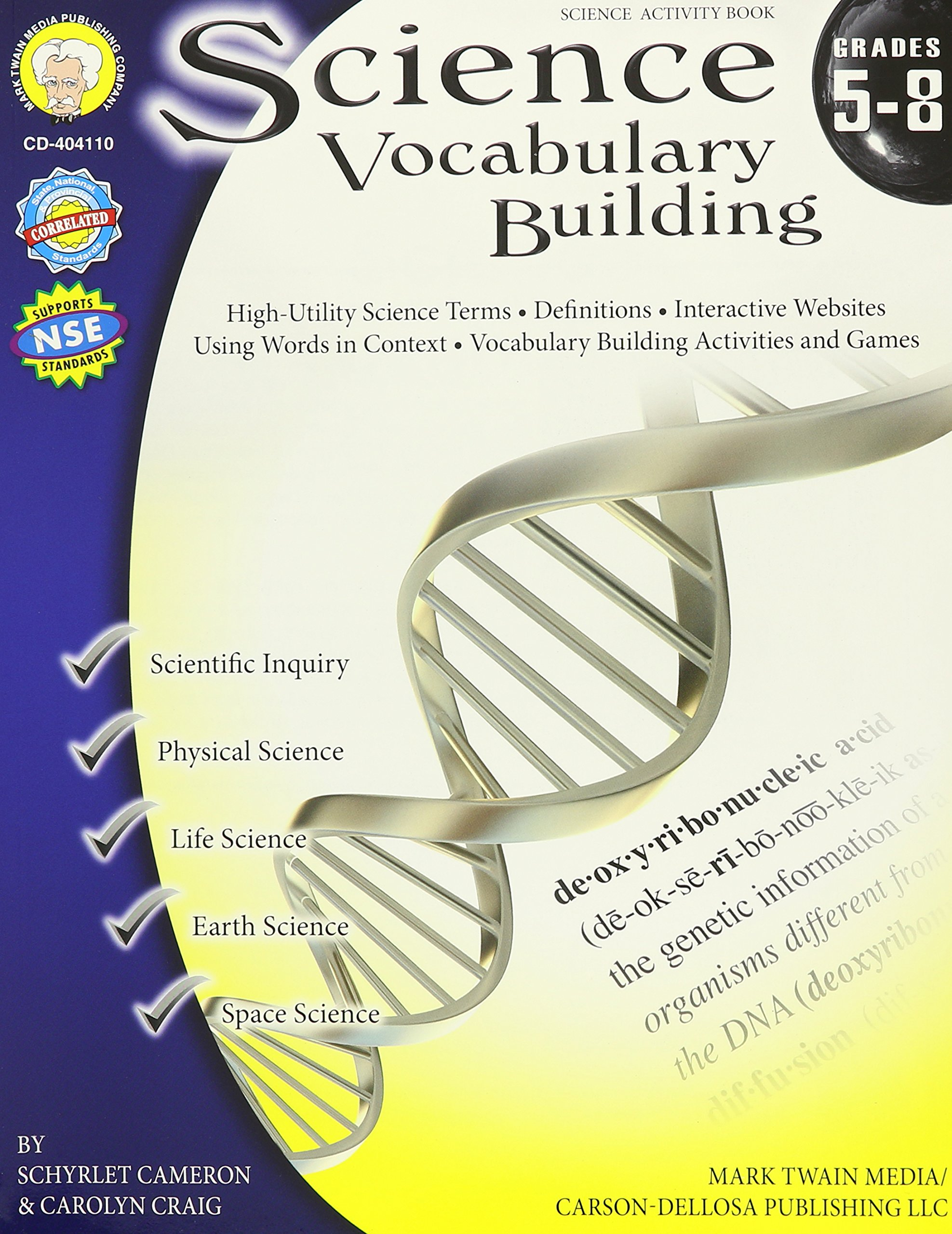 Science Vocabulary Building, Grades 5 - 8: Schyrlet Cameron, Carolyn Craig:  9781580374910: Amazon.com: Books