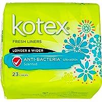 Kotex Fresh Ultrathin Anti-Bacterial Longer and Wider Feminine Care Liners, 23ct