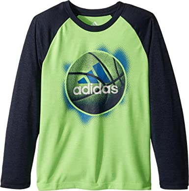 f325364570 Amazon.com: adidas Kids Mens Logo Sport Ball Tee (Little Kids): Clothing