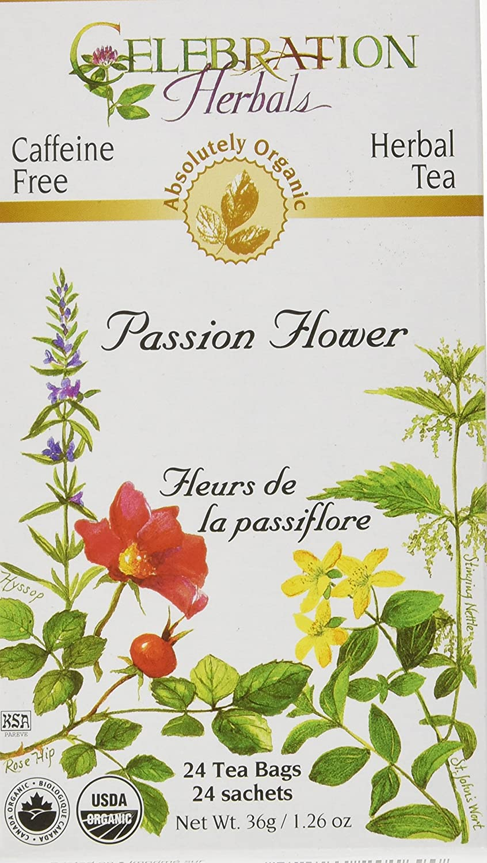 CELEBRATION HERBALS Passion Flower Tea Organic 24 Bag, 0.02 Pound