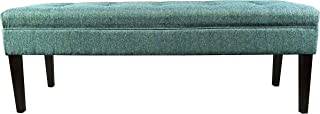 product image for MJL Furniture Designs Kaya Collection Upholstered and Padded Button Tufted Accent Bedroom Bench, Text-2 Olivia Series, Teal