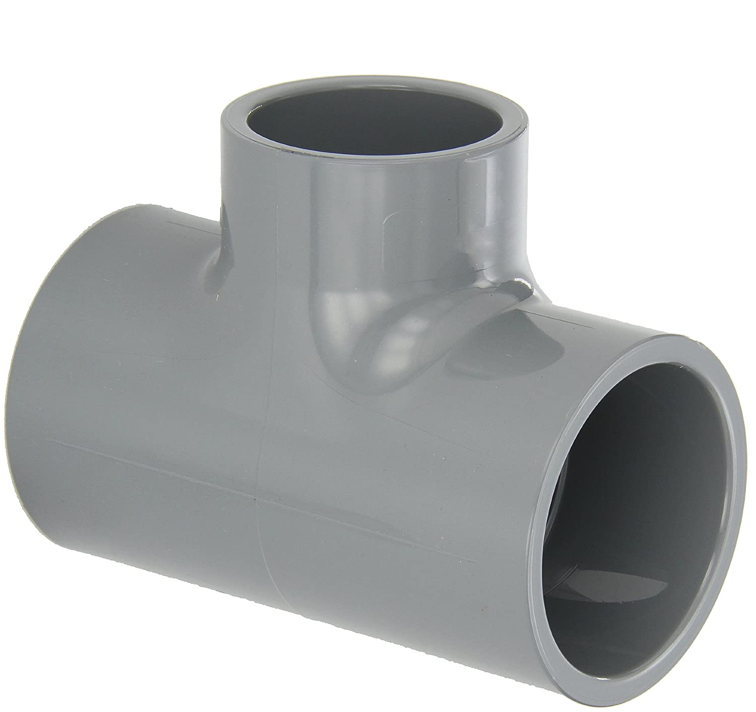 2 x 2 x 1-1//2 Slip Socket Gray Reducing Tee GF Piping Systems CPVC Pipe Fitting Schedule 80