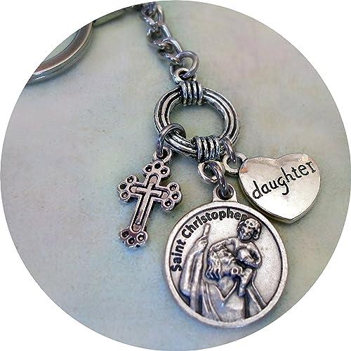 Amazon.com: St. Christopher, protección de viajes, hija ...