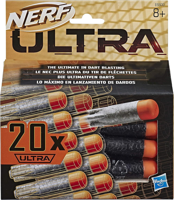 Nerf Pack de 20 dardos para lanzadores Ultra (Hasbro E6600EU6): Amazon.es: Juguetes y juegos