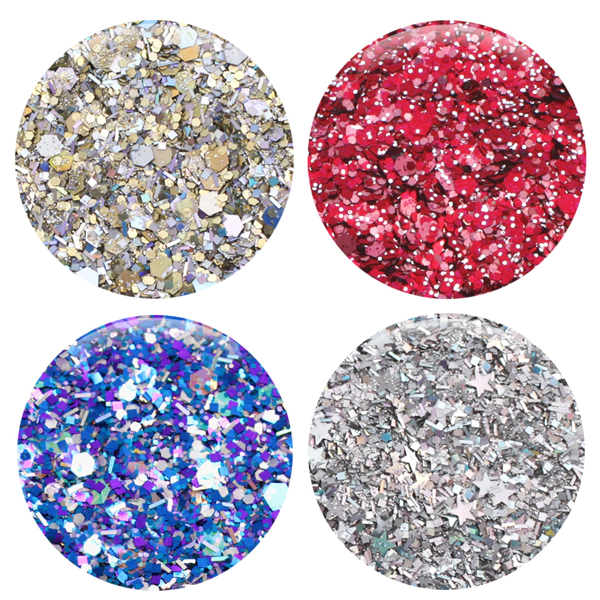 Mixed Glitter 20 Piece Kit - Includes Solvent Resistant Dust, Powder, Hexagon, Holographic, Matte Glitters - Great for Nail Art Polish, Gels, Art and Crafts, Paints & Acrylics Supplies - 1/4 OZ Jars by Glitties (Image #5)