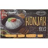 Solano Konjak Reis im 5er-Set, Konjakreis aus der Konjakwurzel hergestellt, Low Carb Reis ist vegan, fettfrei, glutenfrei, kalorienarm und eignen sich gut für Diäten (5x250g)
