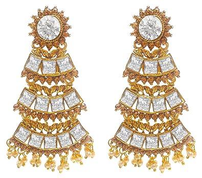 91826b689c782 Buy Valvet Store Heavy Dangle Jhumki Earring With Traditional Ethnic ...