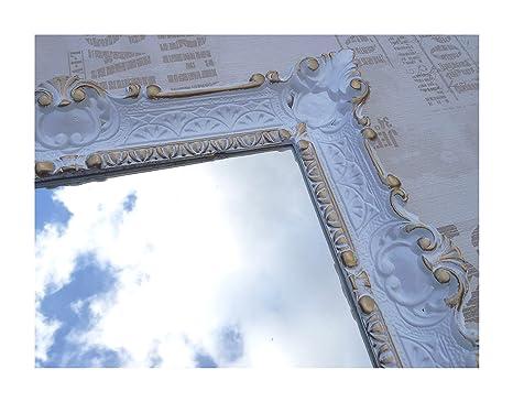 Lnxp Espejo de Pared Barroco Espejo Espejo en 56 x 46 cm ...