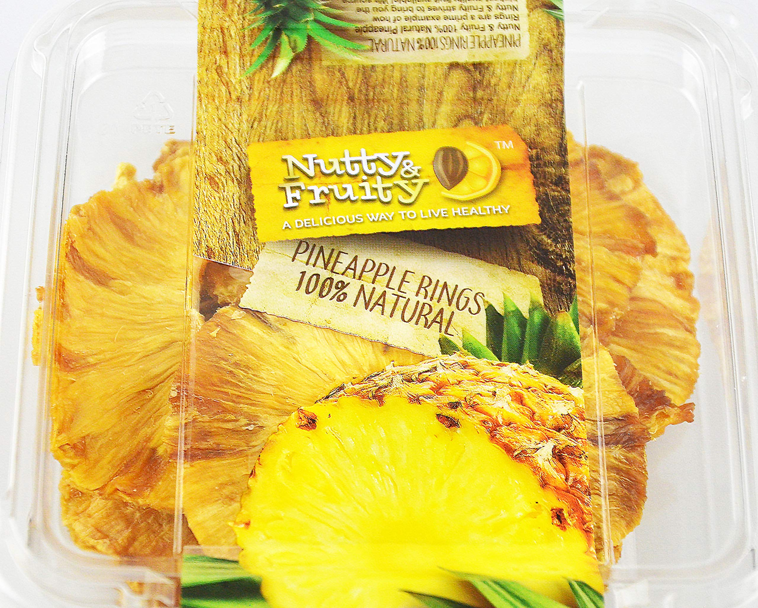 Nutty and Fruity 100% Natural Dried Pineapple Rings 4.5 Ounces