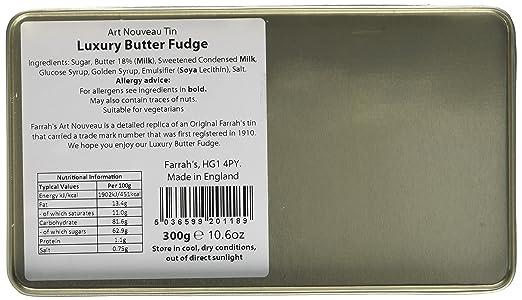 Farrah's of Harrogate Fudge Luxury Fudge Art Nouveau Tin 300g