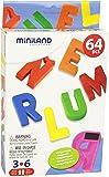 Miniland - Caja de 64 letras magnéticas (97925)