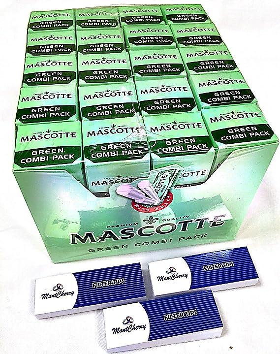 Mascotte verde Combi Pack (50 Papeles + 50 precortado extra Slim Filtros unidades en cada paquete) – Caja de 20 paquetes con marcapáginas 3d se vende por Trendz: Amazon.es: Jardín