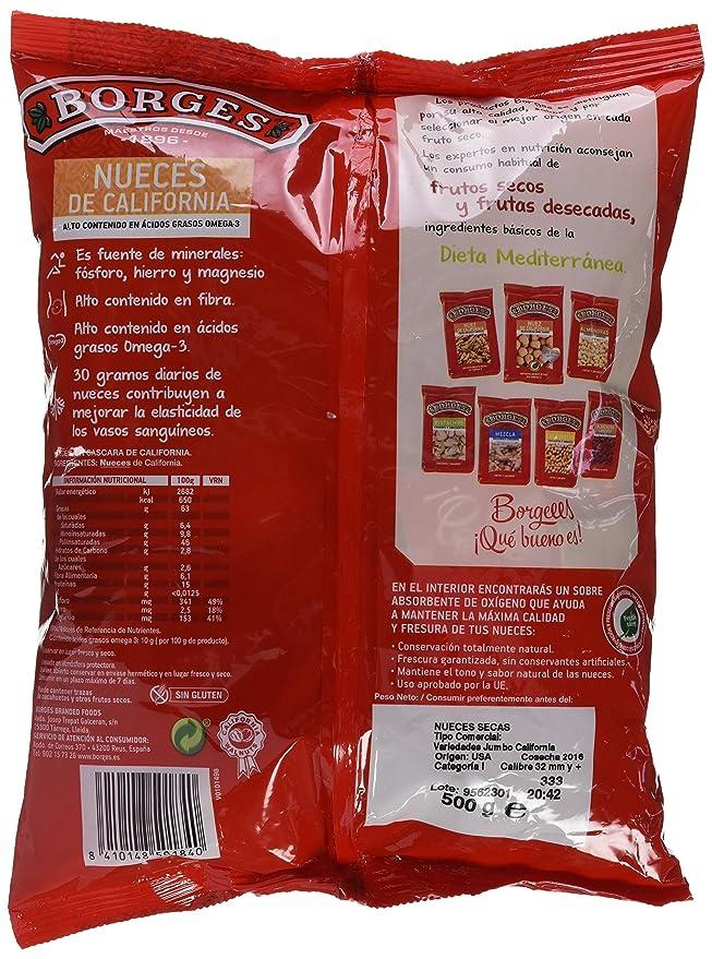 Borges Nueces de California con Cáscara - 500 gr [Pack de 4]: Amazon.es: Alimentación y bebidas